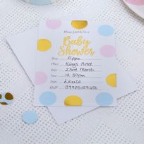 Pattern Works Multi Coloured Baby Shower Invitations (10)
